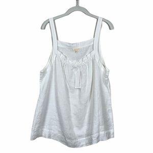 Eileen Fisher White Handkerchief Linen Cami XL